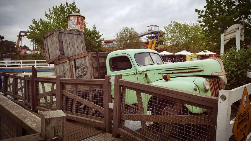 Car Green Color Fun Park