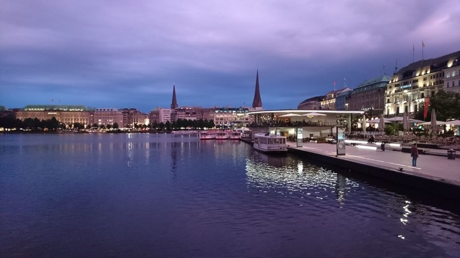 Hamburg city center unedited II. · Hamburg Germany Hh Hamburg Meine Perle City Center Alster Binnenalster Alster River Water Alex Urban Landscape Cityscape Hanseatic Hansestadt