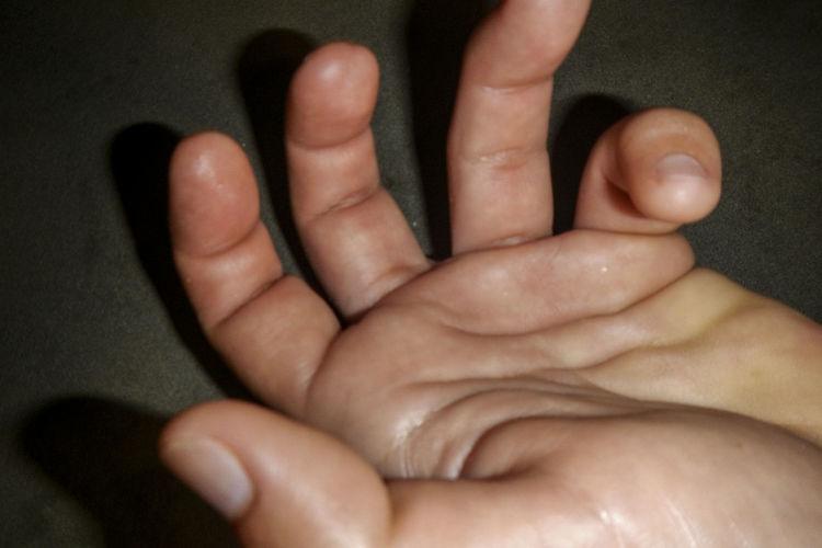 Close-up of human feet