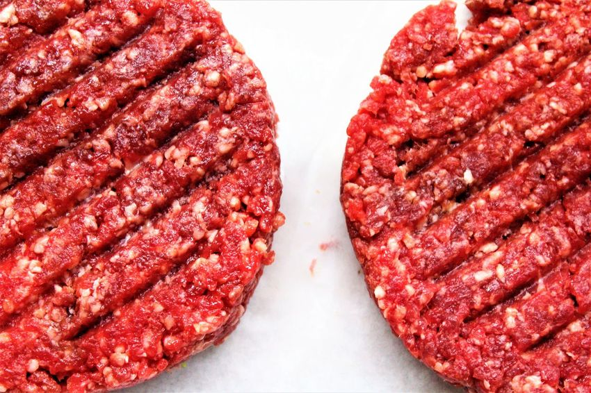 Beef Close-up Food Food And Drink Freshness Ground Beef Hamburger Indoors  Meat Minced No People Red Red Meat SLICE Studio Shot Unhealthy Eating White Background The Week On EyeEm