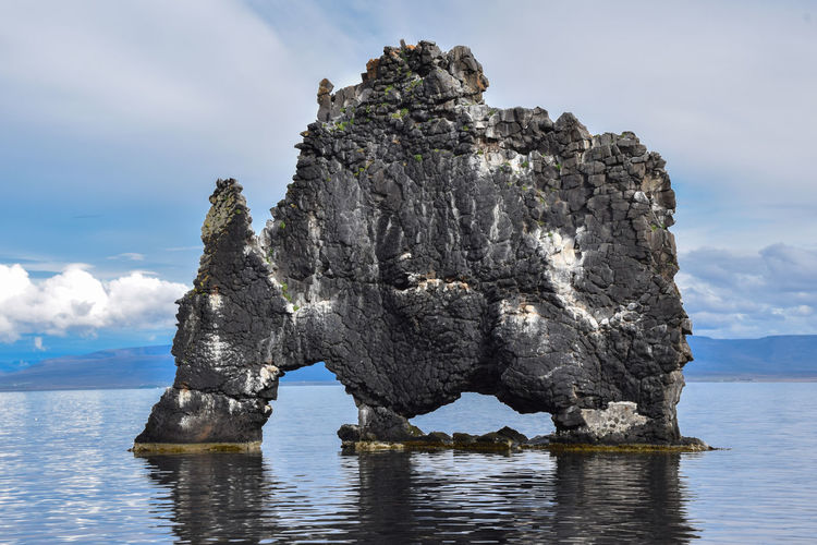 The Troll, Iceland Astrology Sign Cloud - Sky Day Iceland No People Outdoors Rock - Object Sea Sea And Sky Sky Solid Troll Water