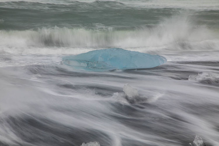 Blue Ice Day Glacier Iceberg Long Exposure Motion No People Outdoors Sea Water Wave