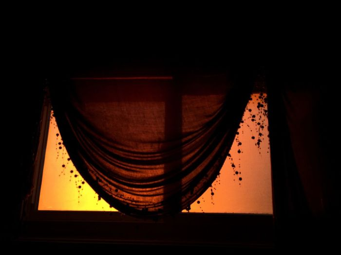 IPhoneography Sunset through the window.