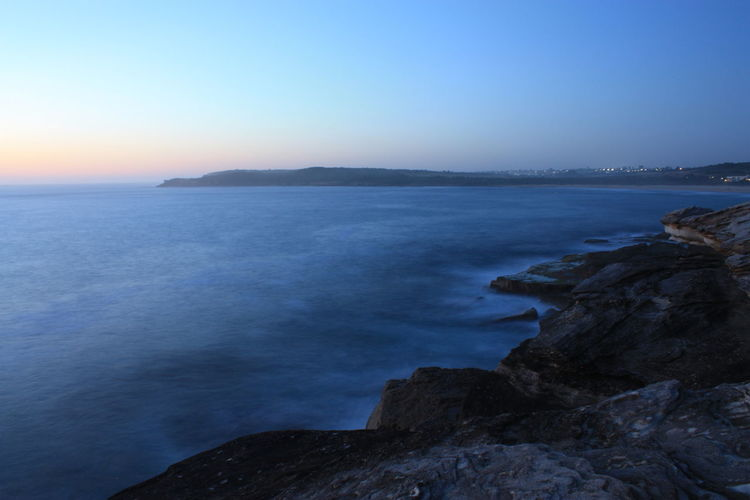 Sunrise at Maroubra Beach Beauty In Nature Clear Sky Day Horizon Over Water Idyllic Long Exposure Nature No People Outdoors Rock - Object Scenics Sea Sky Sunrise Tranquil Scene Tranquility Water