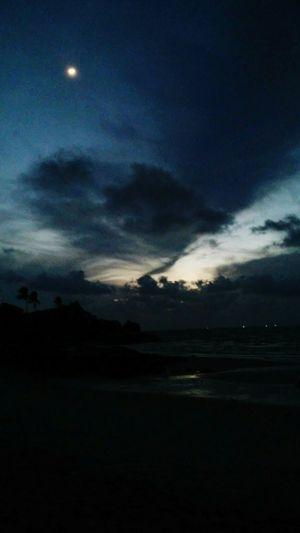 Trip to Parai beach Sunrise Sunrise Silhouette Morning Sky Beach Cloudy Full Moon 🌕 Darkness And Light at Parai, Bangka Island, INDONESIA