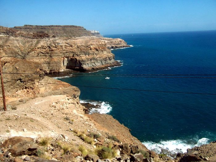 Beauty In Nature Canary Islands Cliff Coastline Grand Canaria Horizon Over Water Sea The KIOMI Collection Water