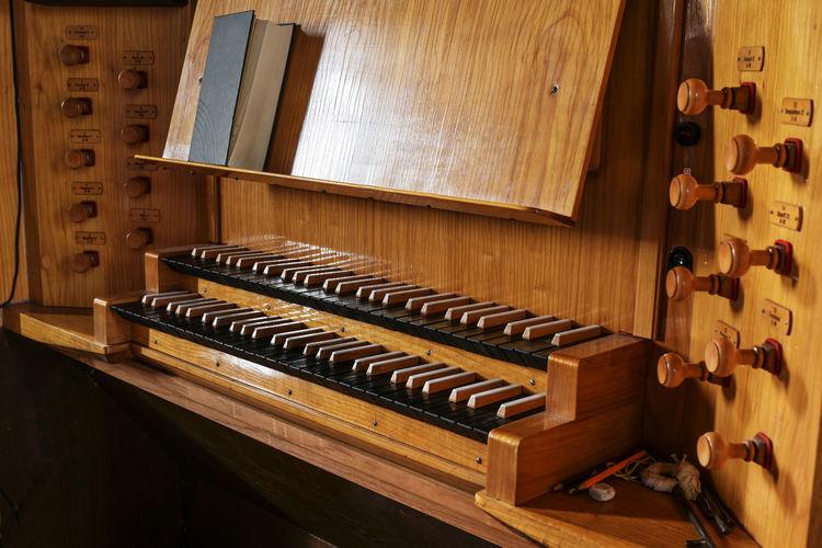 View of piano keys
