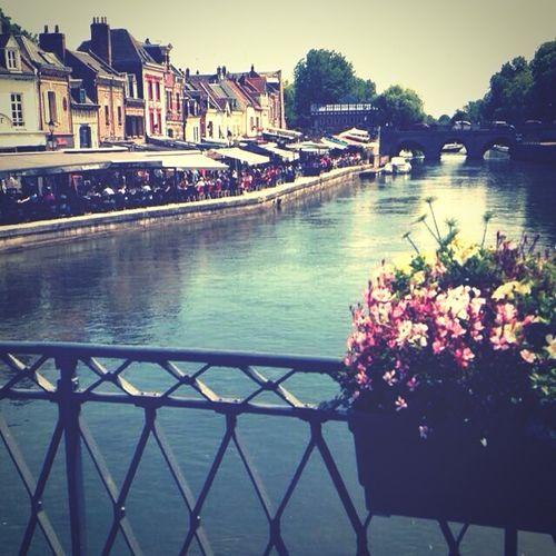 Quai Food Sunset Flowers River Amiens Saintleu