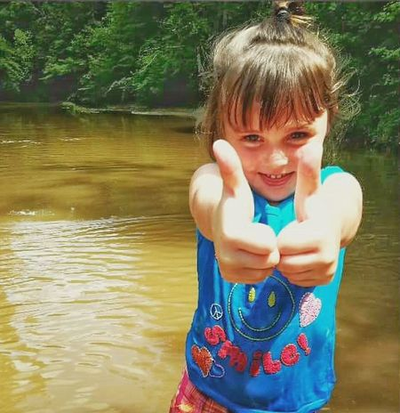 Children Photography Kids Playing Swimming Sandbar Little Girl Happy Child  2thumbs Up Thumbs Up Cute Kid Showing Emotion Happy Excited Smiling Thrilled Let's Go Play Summer Time  The Essence Of Summer Turkey Creek,crystal Springs, Ms.usa Natural Light Photo Natural Light Portrait