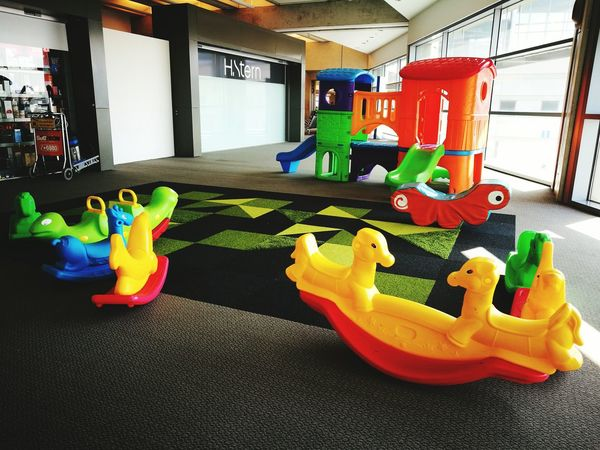 Multi Colored Indoors  Swimming Pool Gym No People Day Health Club Hello Word ✌ Kindersurprise Kinder Bueno Trolley Indoors  Children Playing Playground Slide Color Of Life Sliding At The Playground