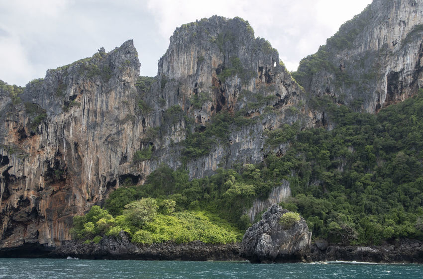 Rock Rock - Object Water Solid Rock Formation Mountain Nature Beauty In Nature Land Sky Sea Scenics - Nature Cliff Day No People Tranquility Tranquil Scene Geology Outdoors Formation Eroded Thailand