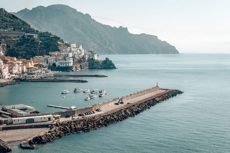 Beautiful view of the amalfi coast in south of italy