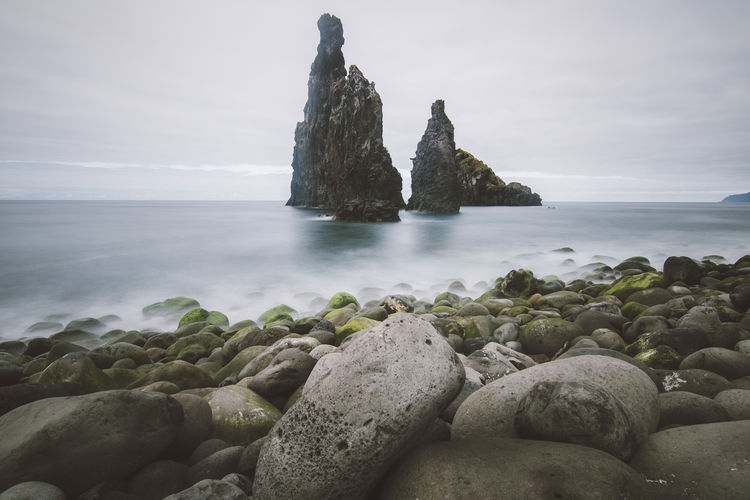 Rock formation at a Madeiran coastline. Coast Coastline Sea Seascape Long Exposure Rocks Rocks And Water Coastline Landscape Madeira Madeira Island Water Waterfront My Best Photo
