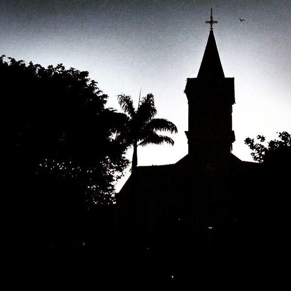 Silhouette Church Taking Photos Santos Dumont