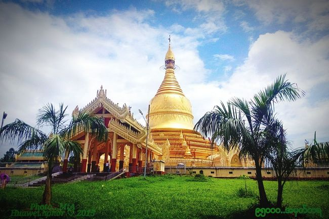 Mahawizaya pagoda from Yangon