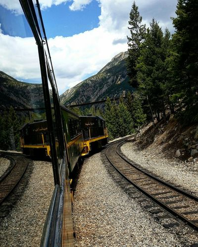 Trains Colorado Reflection Railroad Railroad Track Railroad Love Coolshot Landscape Check This Out Mountains