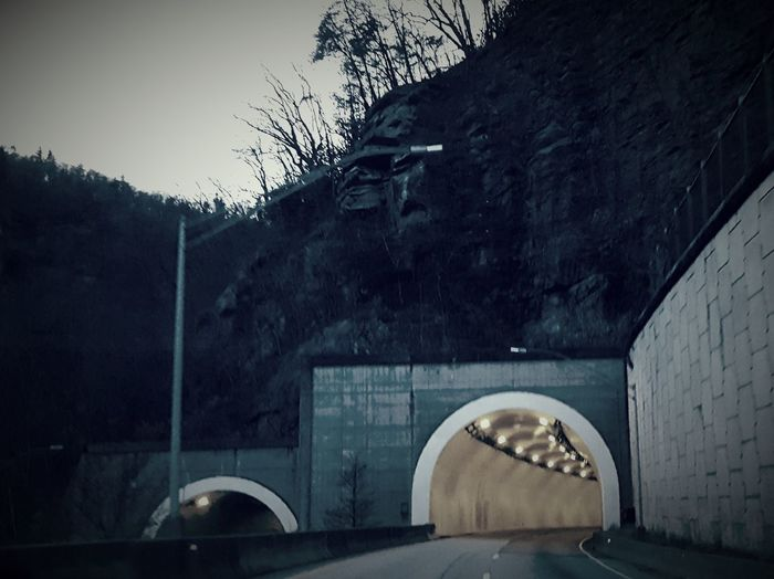 Built Structure Architecture No People Tunnel Mountians Roadsidephotography Theres A Light
