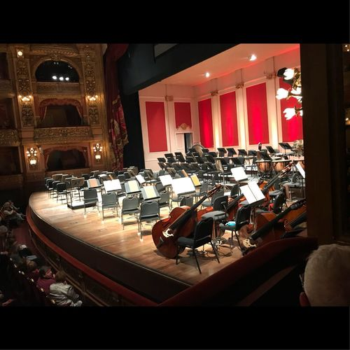 Waiting for Dresden Philharmonic Stage Theater Instruments Philarmonic Teatro Colon  Buenosaires Cellularphotography No People Architecture Built Structure Illuminated Indoors  Seat