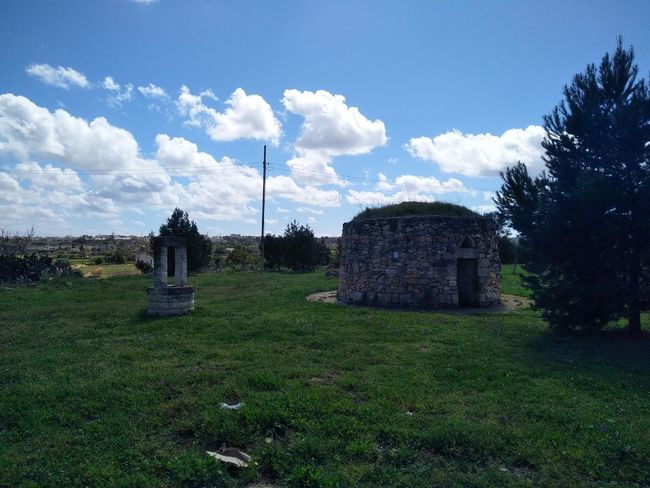 Fountain Malta Mediterranean  Tarxien Cloud - Sky Day Grass History Nature No People Old Ruin Outdoors Sky Spring Tree Well