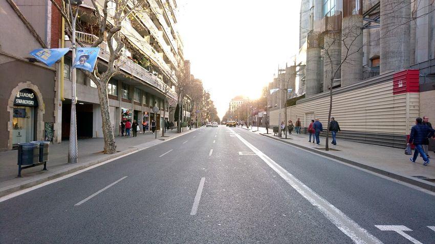 Horizon. Barcelona Barcelona, Spain Barcelona♡♥♡♥♡ SPAIN Horizon Light Light And Shadow Road Asphalt Ahead Urban Landscape City Life Lines Symmetry City Cityscape Politics And Government Sky Architecture Building Exterior Built Structure
