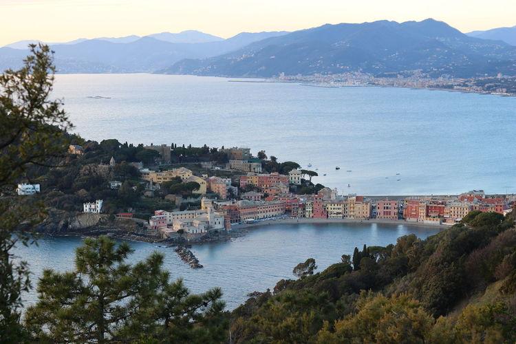 Baia Del Silenzio Italy Liguria Sun Nature Day Tree Water Nautical Vessel Mountain Sea Beach Harbor Sailboat Sky Mountain Range Calm
