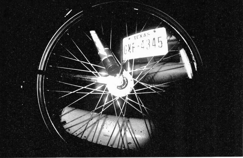 Film Photography Analogue Photography Analogue Bike Bicycle Car Vehicle License Plate Lisense Plate Black And White Fisheye