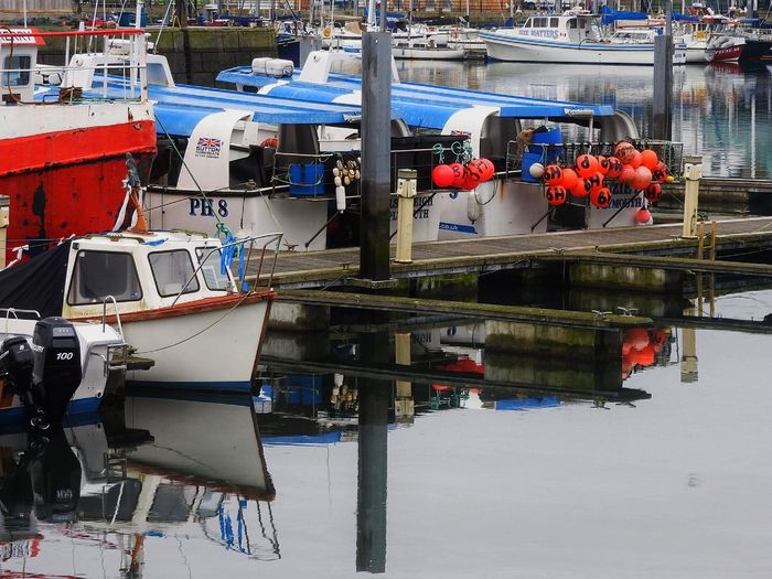 Boats Moored At Sutton Harbor In City
