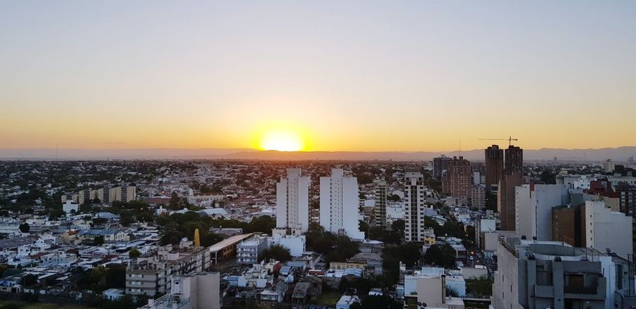 cordoba Go Higher City Cityscape Urban Skyline Skyscraper Sunset Illuminated Downtown District Modern Business Finance And Industry City Life