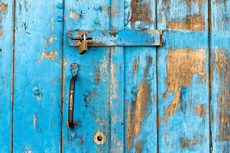 Arte através da fotografia, me inspira 😍 Backgrounds Blue Full Frame Textured  Wood - Material Old-fashioned Pattern Door Paint Rusty