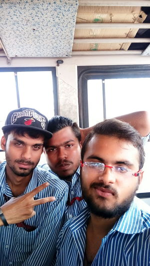 CLG bus masti...wid besties Enjoying Life