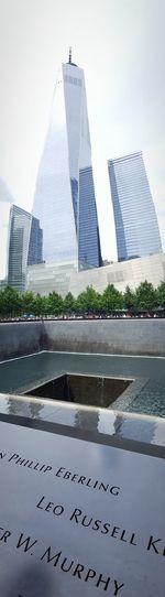 World Trade Center Memorial World Trade Center One New York City Water City Modern Sky Architecture