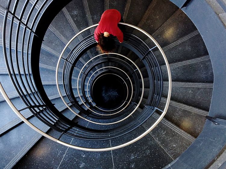 Spiral Staircase Open Edit Chicago Endlessness Stairways