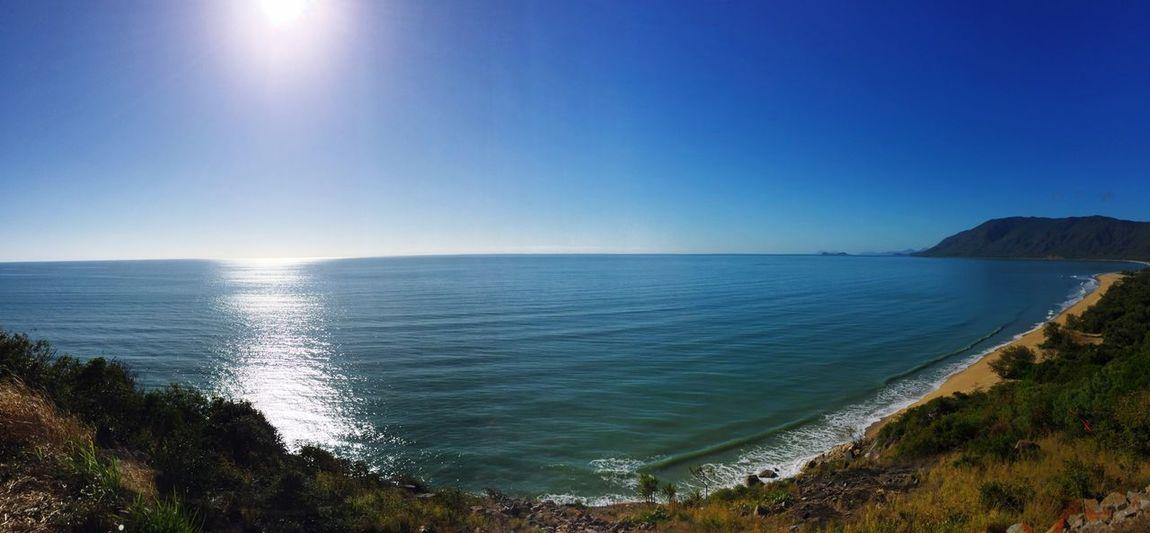 Landscape Vacations Blue Water Sea Tranquil Scene Scenics Horizon Over Water Tranquility Beauty In Nature Sun Beach Clear Sky Calm Nature Seascape Idyllic Non-urban Scene Shore Ocean Day Coastline