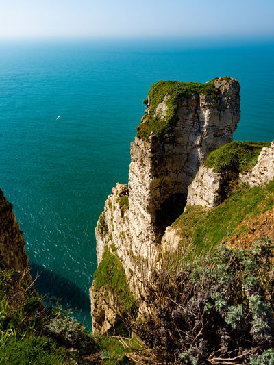 Beauty In Nature Blue Cliff Horizon Horizon Over Water Land Nature No People Scenics - Nature Sea Tranquil Scene Water