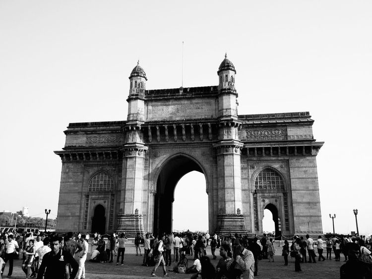 Travel Destinations History City Travel Architecture Outdoors Vacations Gatewayofindia Black And White Black And White Photography Bnw EyeEmNewHere