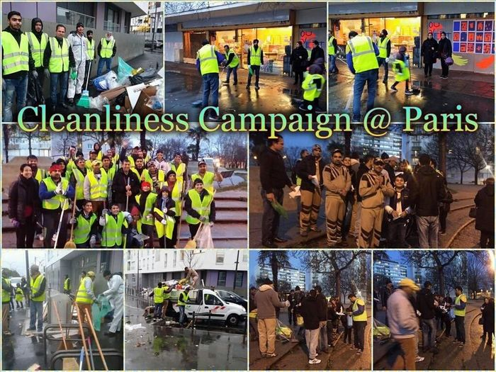 MSG Fans All Over The World Humanity Welfare Works Cleanliness Compaign In Paris, France