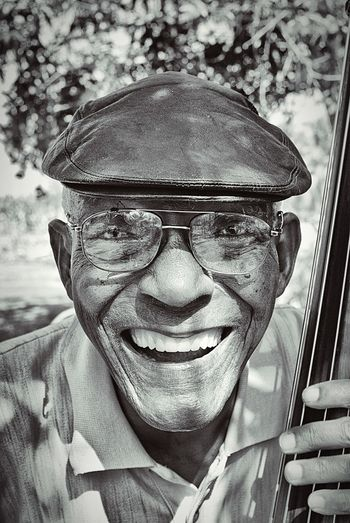 Cuban Smile Cuba BW Collection The Portraitist - 2016 EyeEm Awards Smile Happy People Happy Portrait Bw Photography BW Portrait Portrait Photography Old Man Smiling Face Happy Man Black And White Blackandwhite Photography Portrait Of A Man  Cuban Cuban Man Cuban Musicians Original Experiences People And Places