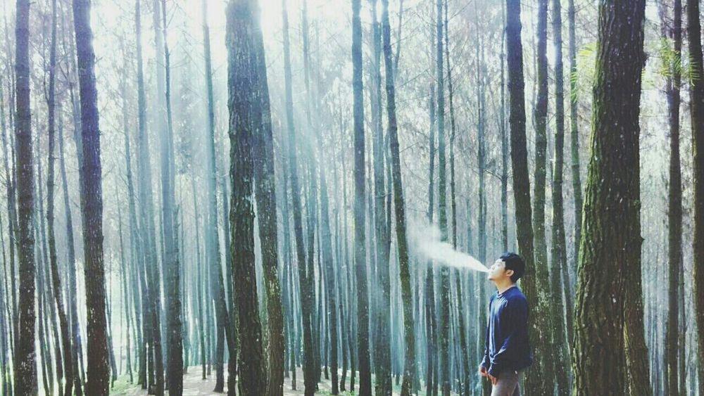 Smoking makes me happy Relaxing Enjoying Life Nature