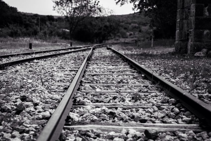 """""""The end of one journey is simply the start of another."""" (J. Saramago) Abandoned Places Canon EyeEm Best Shots EyeEmBestPics Eye4photography  EyeEm Gallery EyeEm Getting Inspired Mllml Railway Abandoned Blackandwhite Bw_collection Black And White EyeEm Bnw Altro, Oltre"""