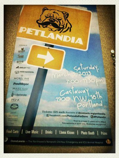 Portland #Pet pals! @DoveLewis #Petlandia 7pm 03/09/13 at Castaway NW #PDX #dogsrule
