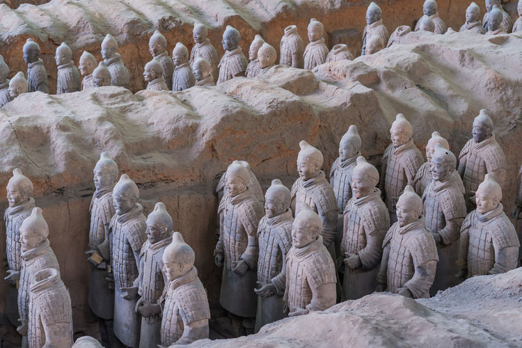 View of statues