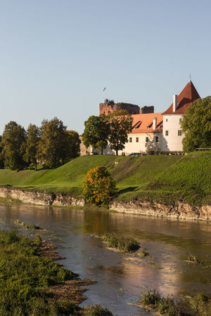 Castle Castle Walls Castle On The Hill Bauska Bauskas Pils Pils Latvia Latvija River River View Sunny Day Outdoors Clear Sky Landscape Day Sky No People Water Nature