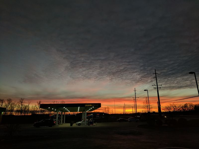 Night Sky City No People Dramatic Sky Travel Destinations Sunset Outdoors Scenics Nature Beauty In Nature @RolsenStudios Alexander Rolsen / EyeEm Sunoco Gas Station Dramatic Sky Landscape Nature