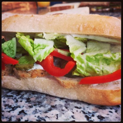 The meat balls / frikadeller from last night rule in a sandwich. .. Lunch Homemade Frikadeller