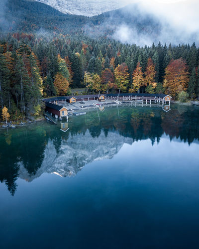 I had a really cold time sleeping in my car the night before but it all paid off when I woke up and had this colorful, foggy autumn morning... Autumn DJI Mavic Pro Deutschland Drone  Eibsee German Morning Perspectives On Nature Alps Auumn Beauty In Nature Day Forest Lake Leaf Mountain Nature No People Outdoors Reflection Scenics Sky Tranquility Tree Water