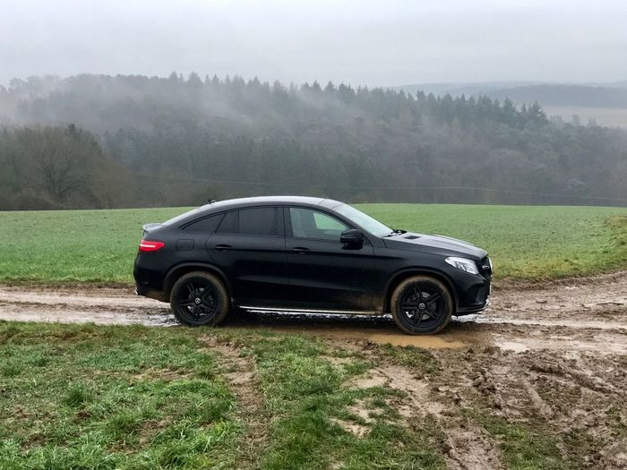GLE Coupe Mercedes-Benz Tree Grass Nature Day Field Growth Tranquil Scene Landscape No People Fog