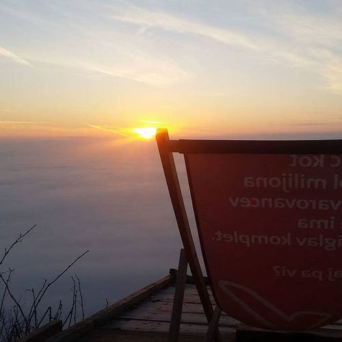 Some say it's a cloudy morning. I say 'Good morning sunrise!' Smarnagora Sunrise View Mountain Above The Clouds Chair