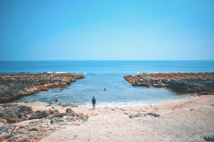 A hidden beach