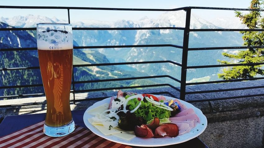 Food And Drink Eyeem Photography No People Window Freshness Table Food Drink Refreshment Drinking Glass Indulgence Plate Temptation Ready-to-eat Water Sky Close-up Urban Skyline Mountain Tranquility Landscape Outdoors Travel Destinations Kehlsteinhaus (Eagle's Nest) Bavarian Alps Königssee Mix Yourself A Good Time