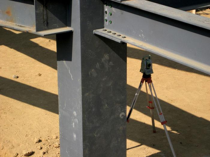 High angle view of crane